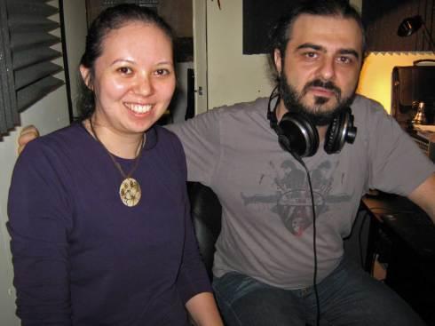 Jessica and composer J. Armen