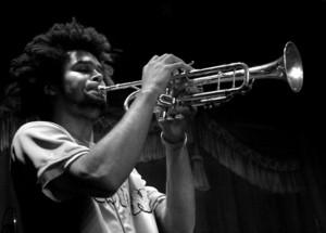Pete on trumpet
